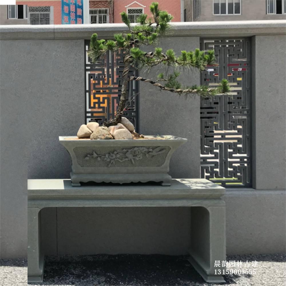 實力工廠石雕花架庭院裝飾花草盆景石擺臺仿古建筑花幾中國元素花托