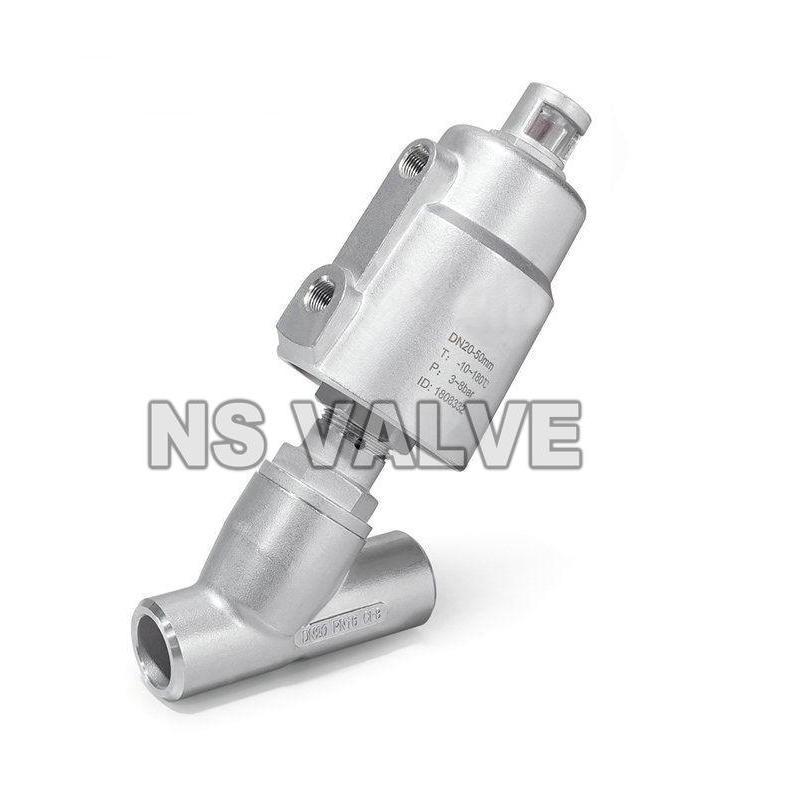 进口焊接气动角座阀  进口焊接气控角座阀