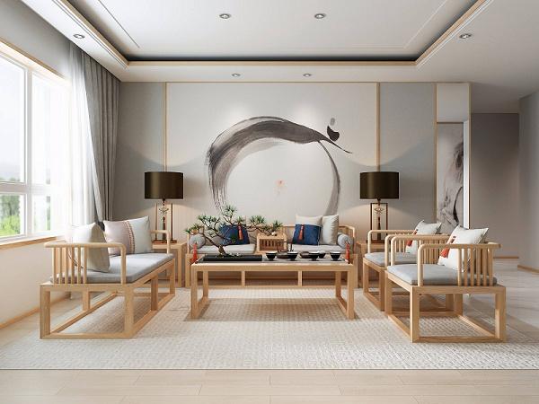 简约新中式家具品牌 新中式装修效果 新中式沙发六件套