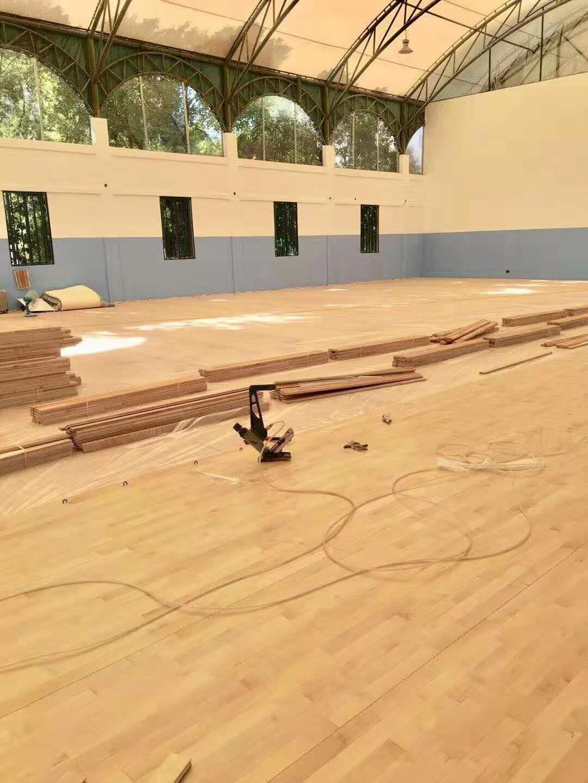 图木舒克橡胶木运动木地板 羽毛球橡胶木木地板 高效节能
