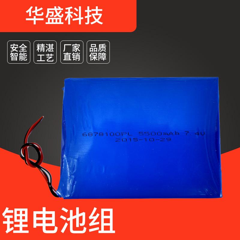 华盛6878100-7.4v-5500mAh锂电池组 遥控车用锂电池组