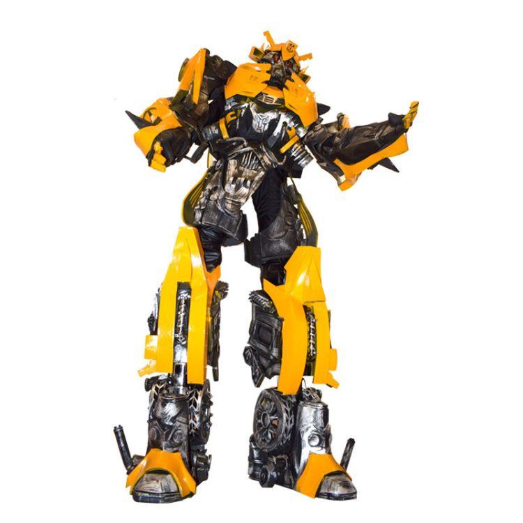 鸿业科技厂家定制 大型人穿机器人模型 可穿戴机器人模型演出服装 出租租赁