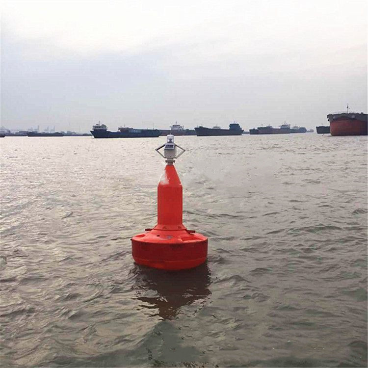 河道航线警示浮标 红色锥形浮漂 水上晃动浮标翔宇