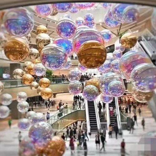 节日装饰炫彩球设计 乐飞洋 美陈装饰炫彩球悬挂