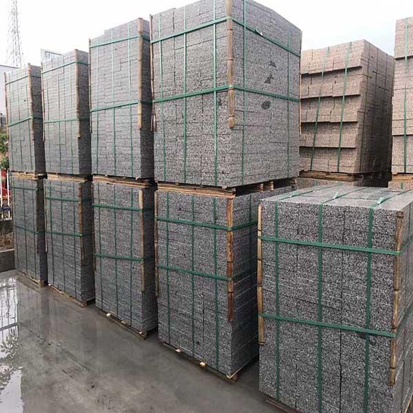 华城石材 30*600*600五莲灰火烧板规格尺寸