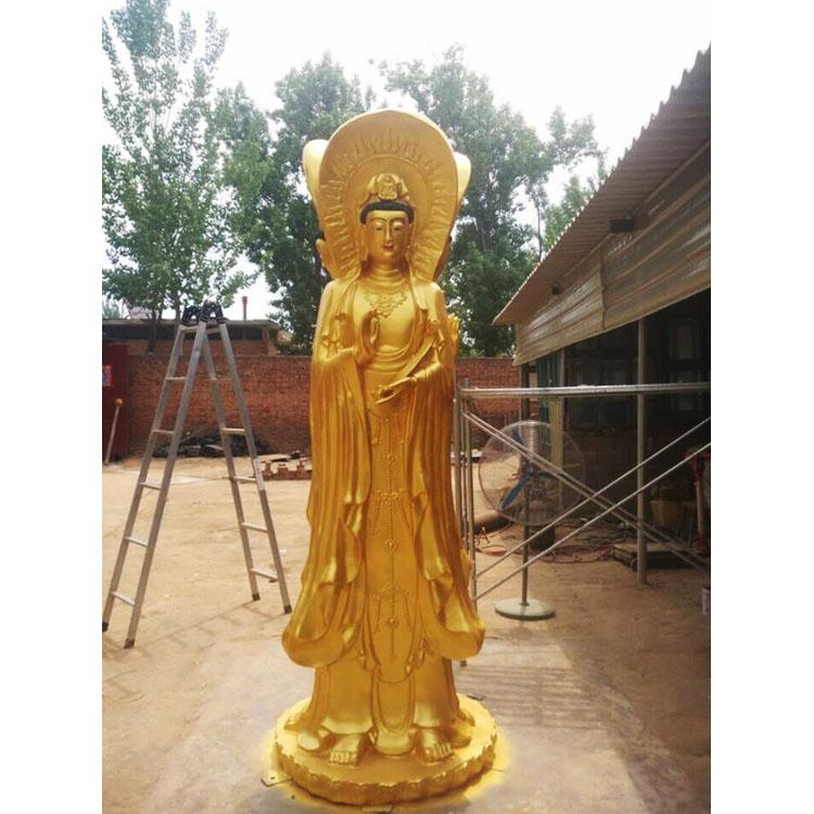 专业生产铜佛像铸铜净瓶观音菩萨 河北昌盛