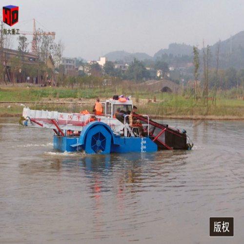 前收前卸式保洁船作用 液压保洁船收费标准 海大重工水陆两栖割草船价格