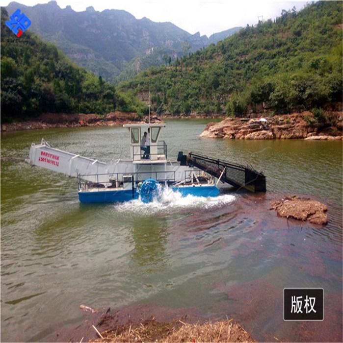 割草船应用各种事项 水面垃圾清理水葫芦粉碎-海德瀛