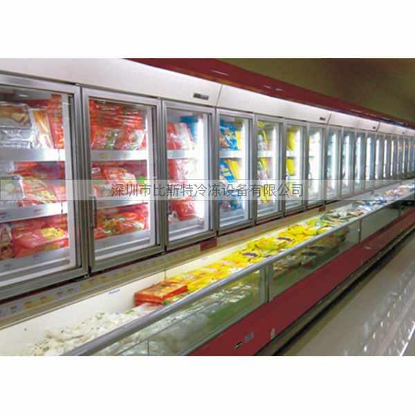 饮料转角风幕柜 水果转角风幕柜定做 比斯特 超市转角风幕柜