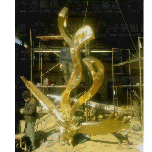 进忠铜雕 大号装饰品铜凤凰供应 装饰品铜凤凰批发定制