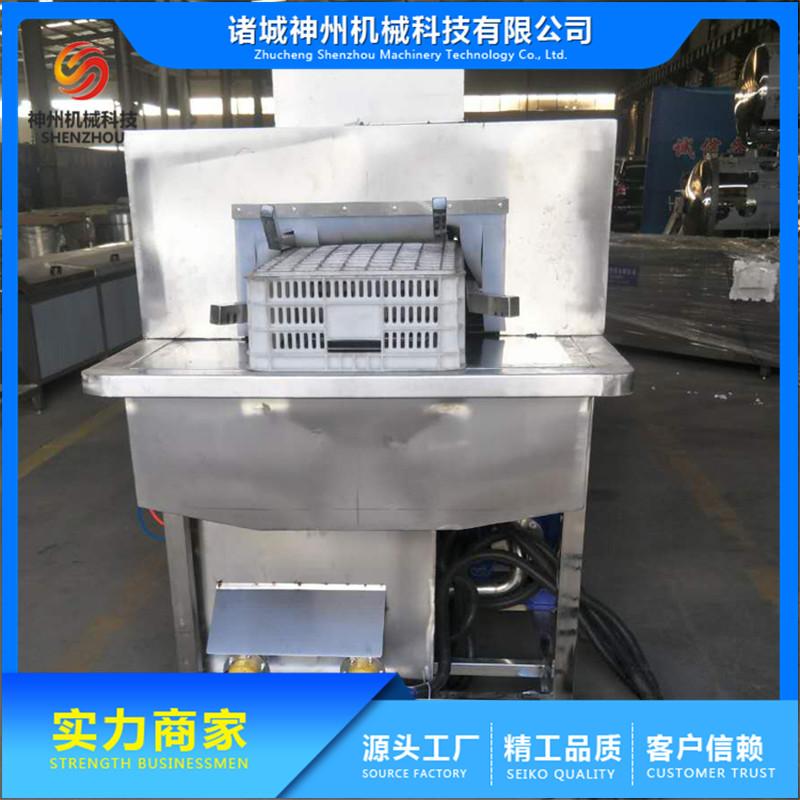 全自动盘子清洗机原理 大型盘子清洗机加工定制 诸城神州机械