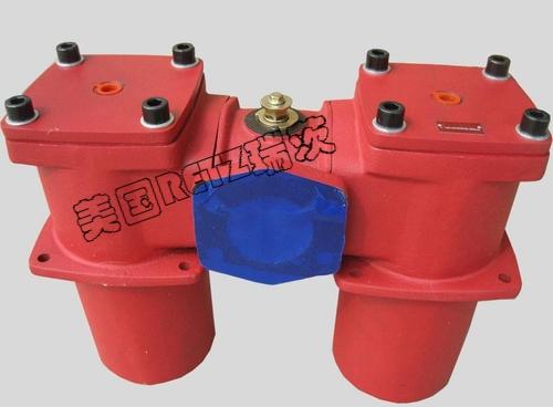 进口双筒回油过滤器 双联 双桶回油管道切换除污器进口厂家 代理商