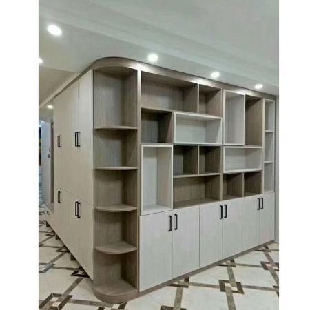 實木組合書柜,世璽全屋定制 書柜榻榻米一體定制