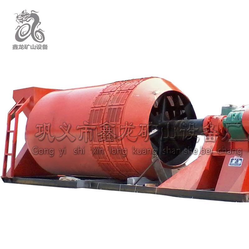 铝矿石滚筒洗矿机区别 滚筒洗矿机品牌 鑫龙