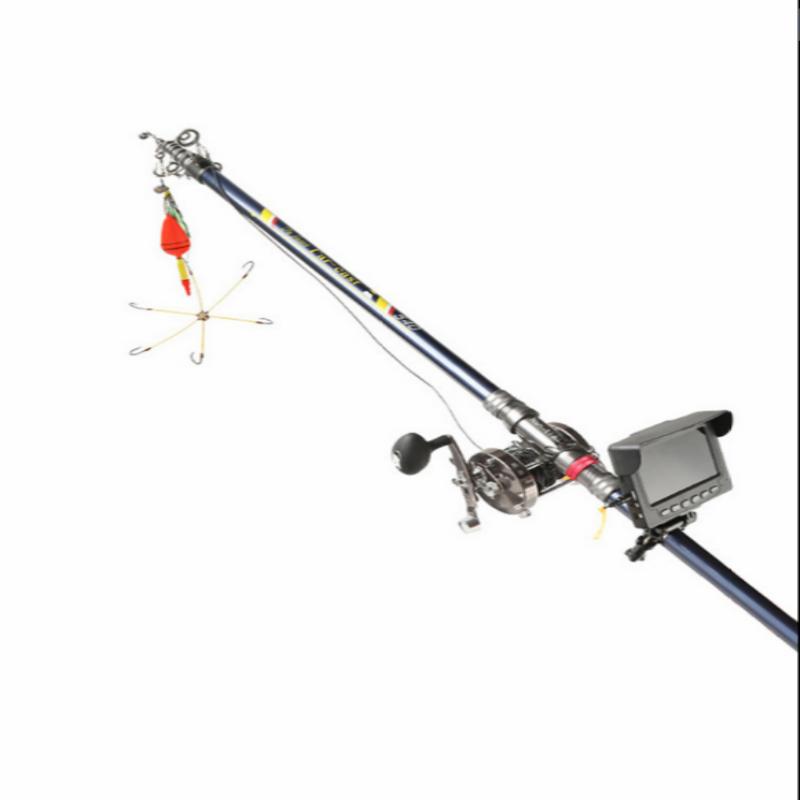 水下摄像头高清可视探鱼器锚鱼竿