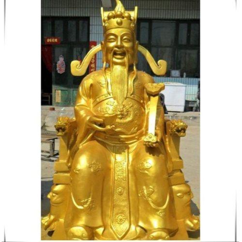 大型坐财神 大型坐财神批发 坐财神铸造厂 进忠雕塑