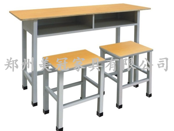 学生课桌凳 信阳钢木课桌椅 销售—美冠家具