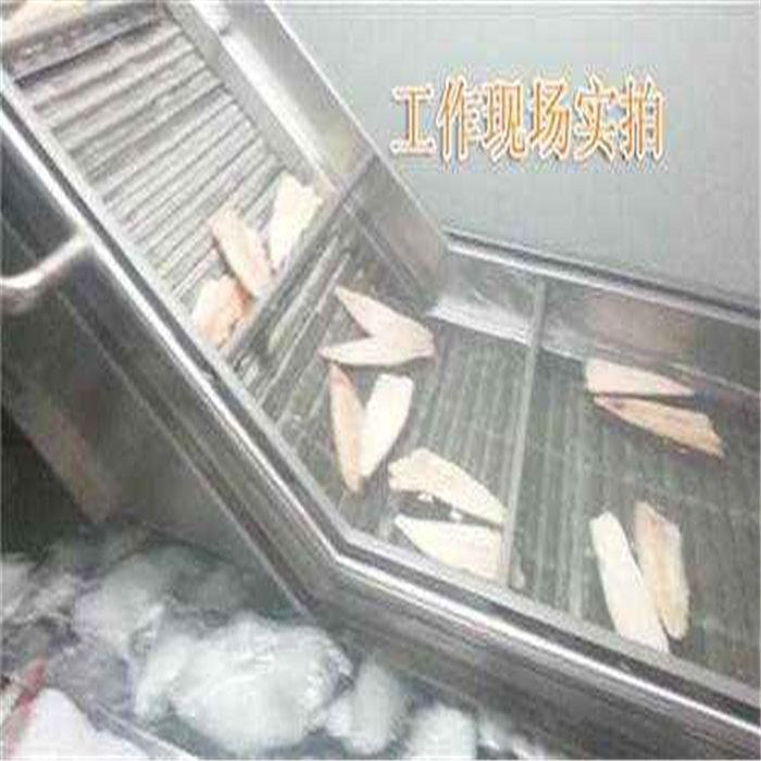 鳕鱼片挂冰机 扇贝裹冰衣设备 大虾挂冰流水线