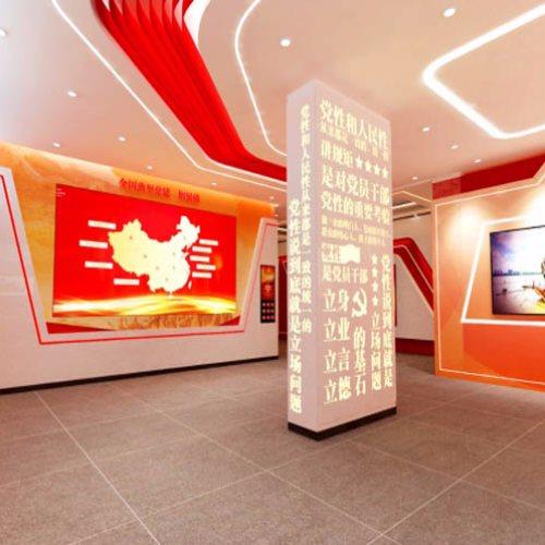 企业党建展厅施工 笔中展览 政府党建展厅设计公司