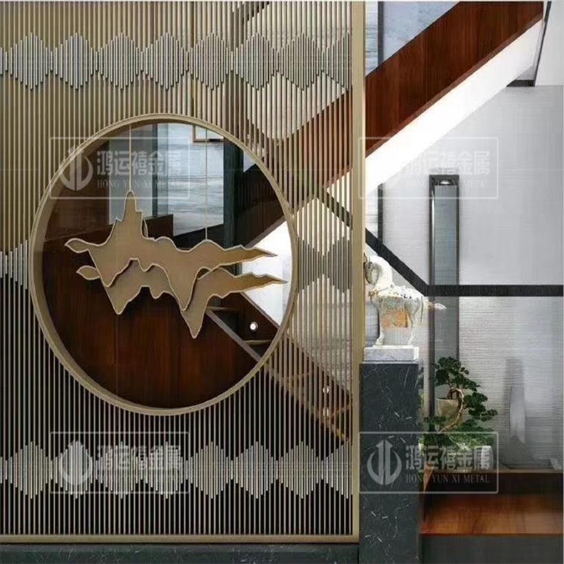 北欧铁艺屏风隔断客厅简约现代隔断装饰轻奢新中式屏风