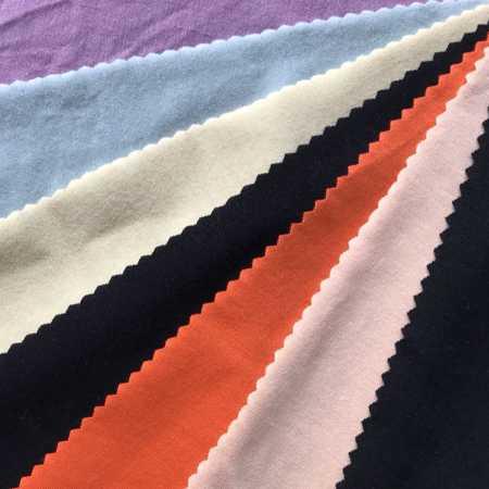 抗起球气流纺人棉氨纶汗布 粘胶人造棉单面布 氨纶汗布厂家直销