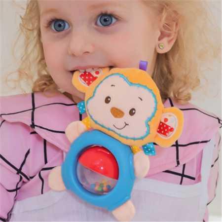 Happy Monkey婴儿玩具转珠公仔安抚床铃