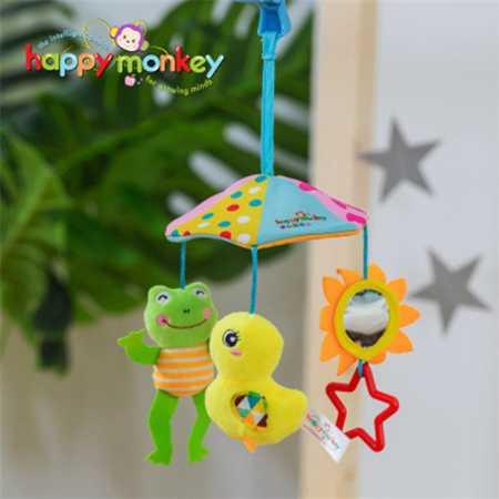 Happy Monkey婴儿玩具音乐旋转床挂床铃