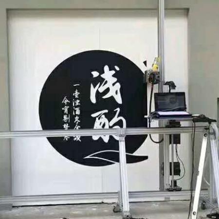 首汇新款户外高清广告5d3D打印大型智能墙体彩绘喷绘机背景墙绘画设备