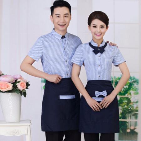 北京依兰酒店餐厅服务员工作服 连锁餐厅工作服 星级酒店工服