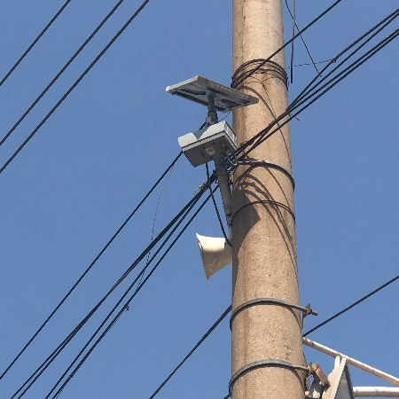 探越监控电力巡线系统超长待机太阳能发电800w高清摄像头