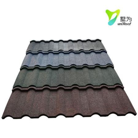 米蘭瓦廠家直銷彩石金屬瓦鍍鋁鋅鋼板仿古彩石金屬瓦 瓦 彩石瓦-金屬瓦-彩石金屬瓦
