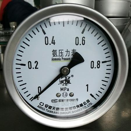 安徽天康不锈钢耐震压力表厂家直销