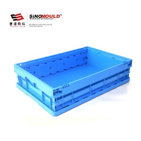 西诺可折叠周转箱604015C1 高强度易折叠 塑料周转箱 物流运输箱 仓库储存箱