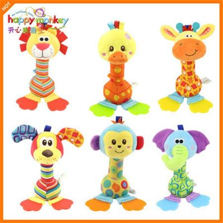 Happy Monkey 饰品玩具毛绒牙胶手摇铃公仔玩具设计加工