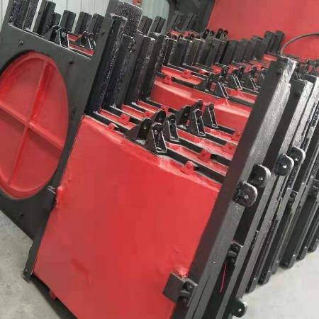 平面定轮钢闸门钢制闸门 一体钢闸 止水阀铸铁镶铜阀门