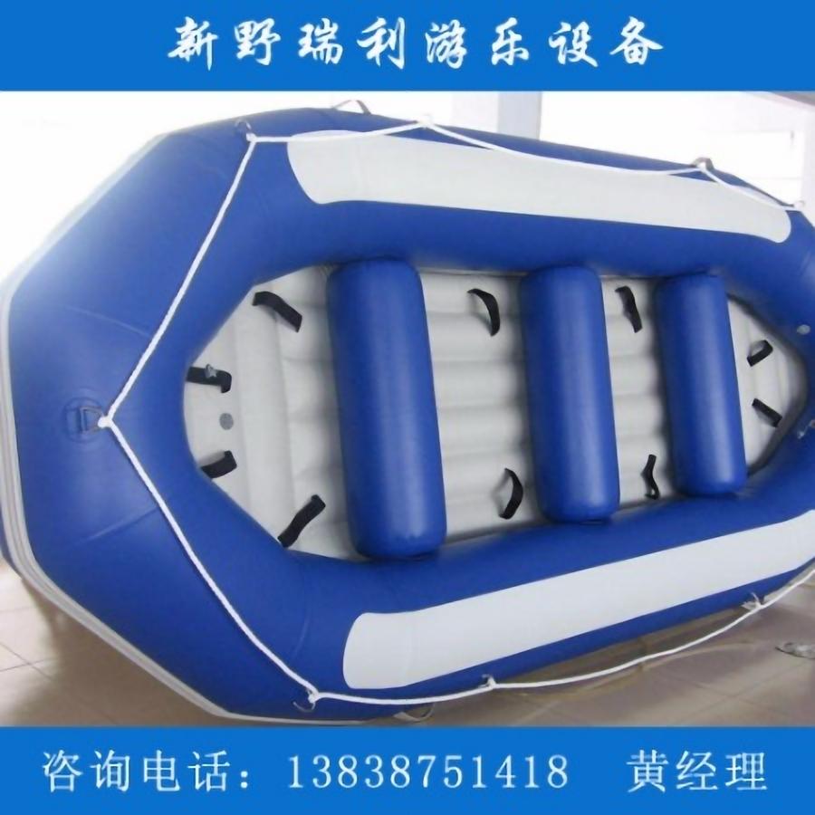 双人充气漂流艇pvc橡皮艇定制 瑞利游乐设备厂家直销