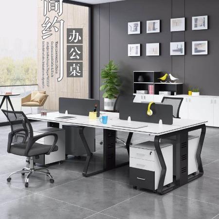 云南昆明家具厂家 简约现代职员办公桌 屏风电脑桌椅 职员组合卡位 办公桌椅直销