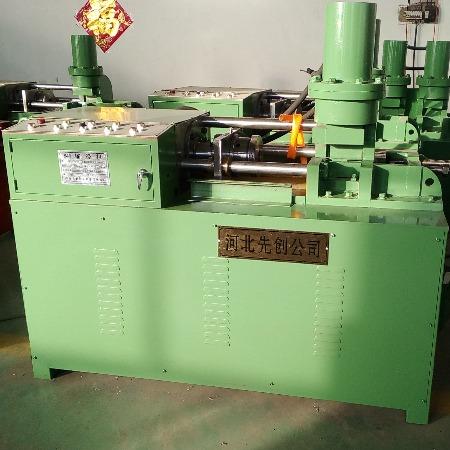钢筋加工机械地脚螺栓锚杆机-SJ-30型滚丝机缩径机-圆钢缩径机双头-锚杆机批发