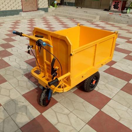 工地电动手推车 运输平板车 建筑农用电动柴油小推车厂家