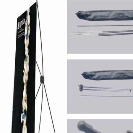 精品铝合金易拉宝海报 加强防风韩式x门型展架易拉宝
