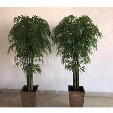 2019新品 仿真竹子 假竹子盆景价格 假竹盆栽 网红塑胶竹隔断