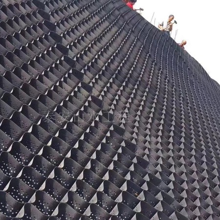 厂家土工格室 -蜂巢土工格室-排水网长丝土工布-四川天海环保科技有限公司 生态袋-防水毯
