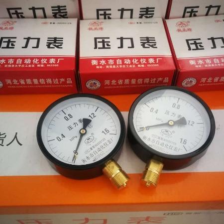 厂家热卖 压力表 铁头压力表
