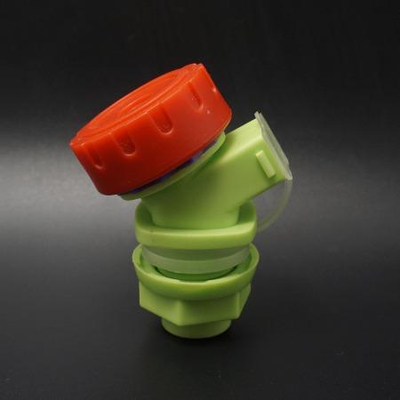 带出水口嘴塞水龙头 旋钮式泡酒瓶水嘴带防尘罩 防尘嘴塞水桶龙头