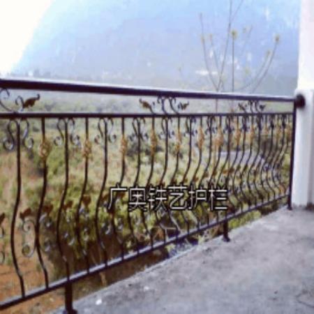 广奥厂家直销 锌合金阳台护栏小区花园铁艺围栏铁艺隔离护栏栏杆栅栏