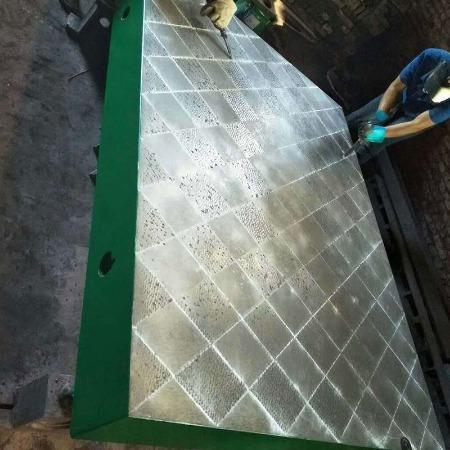 康恒灰铁平台 检查桌  T型槽焊接装配1米工作台 厂家直销铸铁平板 20年口碑保证