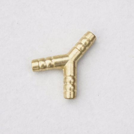三通软接头 波纹管铜卡套软接三通