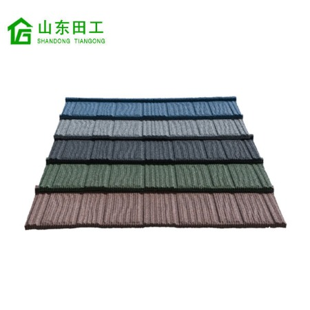 木纹彩石屋面金属瓦厂家平改坡屋面金属瓦价格防水隔热瓦