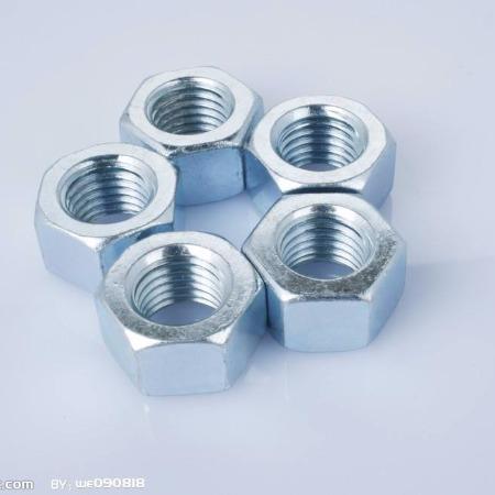 盛银公司 厂家直销镀彩高强度螺母  镀锌螺母