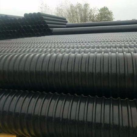 HDPE增强波纹管 HDPE双壁钢带管  双壁钢带管厂家 螺旋管 钢带增强管 钢带管山东中迈